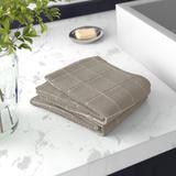 Gracie Oaks Amaarah 2 Piece 100% Cotton Bath Towel Set 100% Cotton in Gray, Size 0.2 H x 29.0 W in   Wayfair C80AA996D24D425689A74123093785E1