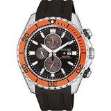 Citizen Men's Promaster Land Stainless Steel Quartz Watch with Rubber Strap, Black, 22 (Model: CA0718-13E)