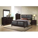 GTU Furniture Contemporary Styling Rosa 5Pc King Bedroom Set(K/D/M/N/C)