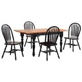 Sunset Trading Black Cherry Selections Dining Table Set, Antique