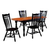 Sunset Trading Black Cherry Selections Dining Table Set, Distressed Antique rub