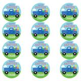 CPS 72 Piece Easter Pickup Personalized Sticker & Treat Bag Poly-Coated Disposable Party Favor Set in Blue | Wayfair 68989