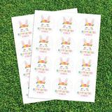 CPS 72 Piece Hoppy Easter Sticker & Treat Bag Poly-Coated Disposable Party Favor Set in Pink | Wayfair 68967