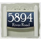 EZ Street Signs Traditional LED Wall Address Plaque Plastic in Blue, Size 4.5 H x 16.0 W x 1.25 D in   Wayfair LTS-PR-BL
