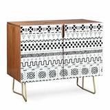 East Urban Home Caroline Accent Cabinet Wood in Black, Size 38.0 H x 38.0 W x 20.0 D in | Wayfair 581FE483CF5E45EA908EB395A72AC15C