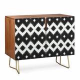 East Urban Home Triangle Footprint Accent Cabinet Wood in Black, Size 38.0 H x 38.0 W x 20.0 D in | Wayfair DF8429A689B546A3A47BA2EBD44364E7