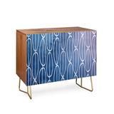 East Urban Home Lara Abstract Sounds 2 Door Accent Cabinet Wood in Blue, Size 38.0 H x 38.0 W x 20.0 D in | Wayfair