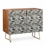 East Urban Home Dash Camo 2 Door Cabinet Wood in Gray, Size 38.0 H x 38.0 W x 20.0 D in | Wayfair E1CD7AC447404071B627A90D8B63C94F