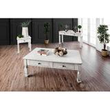 One Allium Way® Christa 3 Piece Coffee Table Set Wood in Brown/White, Size 19.0 H x 52.0 W x 28.0 D in   Wayfair 7C05CEE69E324294A93CD0F60493FE81