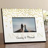 Ebern Designs Southgate The Perfect Couple Personalized Picture Frame Wood in Brown/White, Size 8.0 H x 10.0 W x 0.5 D in | Wayfair