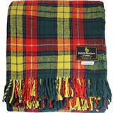 "I LUV LTD Scottish Tartan Warm Wool Mix Throw Blanket Buchanan Plaid Couch Blanket Bed Throw Blankets Wool Rug Outdoor Blankets and Throws 60"" x 72"""