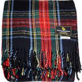 "I LUV LTD Scottish Tartan Warm Wool Mix Throw Blanket Stewart Black Plaid Couch Blanket Bed Throw Blankets Wool Rug Outdoor Blankets and Throws 60"" x 72"""