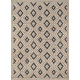 Momeni Andes Wool and Viscose Area Rug, 6' X 9', Beige