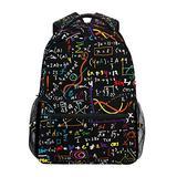 Colorful Math Formula Bookbag School Student Backpack for Travel Teen Girls Boys Kid