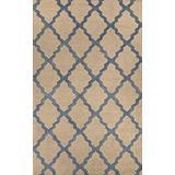 "Home Must Haves Trellis Beige Blue Wool Moroccan Area Rug for Living Room Bedroom (5'3"" x 7'3"")"