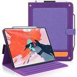 Skycase iPad Pro 12.9 Case 2018, iPad Pro 12.9 3rd Generation Case, [Support Apple Pencil Charging] Auto Dormancy Multi-Angle Viewing Stand Folio Case for Apple iPad Pro 12.9 inch 2018 Version, Purple