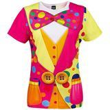 Funny World Women's Clown Costume T-Shirts, Large, Multi