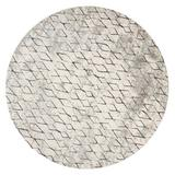 World Menagerie Costigan Sand/Charcoal Area Rug Polyester in Black/White, Size 105.0 H x 105.0 W x 0.59 D in | Wayfair