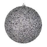 "Vickerman 532676-8"" Silver Beaded Ball Christmas Tree Ornament (2 pack) (N185907D)"