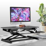 Standing Desk - Pyle Universal Computer Laptop Workstation Height Adjustable Standing Desk Converter, Wood/Wood & Metal/Metal, Gray