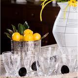 Abigails Dot 8 oz. Drinking Glass Glass in Black, Size 4.0 H x 3.75 W in   Wayfair 726016