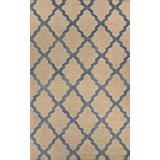 Home Must Haves Trellis Beige Blue Wool Moroccan Area Rug for Living Room Bedroom (8' x 10')