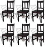Alcott Hill® Tayler Solid Wood Slat Back Side Chair in BrownWood in Brown/Green, Size 34.0 H x 16.3 W x 17.9 D in | Wayfair