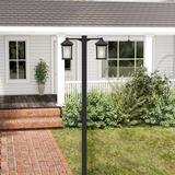 "Winston Porter Savala Outdoor 2-Light 99"" Lamp Post Metal in Brown, Size 99.0 H x 30.0 W x 8.13 D in | Wayfair 05A6F253A81A4CC981E677BFB6BC37FD"