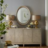 "Hooker Furniture 5990-75900-LTWD Elixir 71"" Wide Contemporary Buffet Cabinet Sideboard Serene Gray"