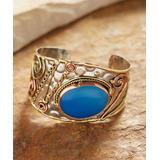 Anju Women's Bracelets Mixed - Blue Chalcedony & Tri-Tone Cuff