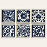 "Tile Patterns Art 40"" x 40"" - Ballard Designs"