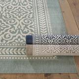 """Suzanne Kasler Florette Indoor/Outdoor Rug Mineral 7' 10"""" x 10' 10"""" - Ballard Designs"""