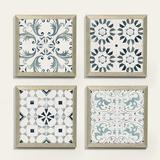 Arabesco Patterned Tile Art - Ballard Designs