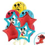 NA Disney Mickey Mouse 1st Birthday Disposable Balloon Bouquet Paper in Blue/Red   Wayfair 257995