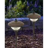 Moonrays Rubbed Bronze Hardwired Metal Pathway Light Metal in Brown, Size 5.98 W x 5.98 D in | Wayfair 95816