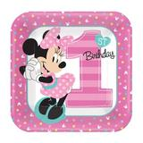 NA Disney Minnie Mouse 1st Birthday Paper Disposable Party FavorPaper in Pink   Wayfair 258012