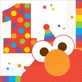 Elmo Turns One Paper Disposable Beverage Napkin Paper in Red | Wayfair 262360