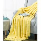 BNF Home Inc. Throws Sunshine - Sunshine Yellow Tweed Throw