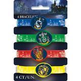 NA 4 Piece Harry Potter Rubber Disposable Bracelet Favors Set Paper/Plastic | Wayfair 265116
