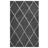 Toryn Diamond Lattice 8x10 Shag Area Rug R-1144D-810