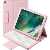 iPad 4 Case iPad 3 Case iPad 2 Case with Keyboard, YMH Leather Stand Detachable Wireless BT Keyboard Multi Angle Durable Magnetic Folio Cover Case for Apple iPad 2nd 3rd 4th Generation Tablet (Pink)