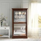 "Darby Home Co Rahul Curio Cabinet, Wood, Size 78""H X 42""W X 17""D | Wayfair 793538ACF6EF4DE3B019845E625882A1"