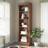 Canora Grey Bradburn Bunching Standard Bookcase Wood in Red, Size 81.75 H x 24.5 W x 14.25 D in | Wayfair BFEDE2DC614F4306A59D29ED1CE5614F