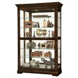 Canora Grey Bracy Lighted Curio Cabinet in Brown, Size 80.0 H x 50.0 W x 21.5 D in | Wayfair B28292E40BF44B1A9CFB0F159CC9F0A4