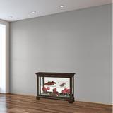 Alcott Hill® Petterson Lighted Curio Cabinet in Brown, Size 33.0 H x 47.25 W x 14.0 D in   Wayfair 4231F7AEBFF44541A707A14E644543D9