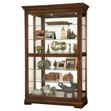 Darby Home Co Khalid Lighted Curio Cabinet in Brown, Size 80.0 H x 50.0 W x 21.5 D in | Wayfair 65E175A25F3A445EAF2288061DB2C30F