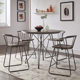 Mercury Row® Fincastle Iron 5 Piece Pub Table SetWood/Metal in Brown/Gray, Size 36.0 H x 42.0 W x 42.0 D in | Wayfair
