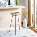 Addison Wire Weaved Contemporary Bar Stool in Gold - Safavieh FOX4516A