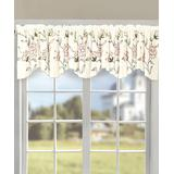 BNF Home Inc. Sheer Window Curtains Gold - Gold Sun Flower Embroidered Valance