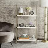Hartley 52'' Retro Scandinavian Three Tier Shelf in White/Light Oak - Safavieh FOX4240A